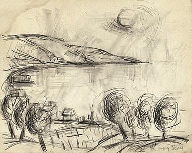 Egry József Balaton című rajza