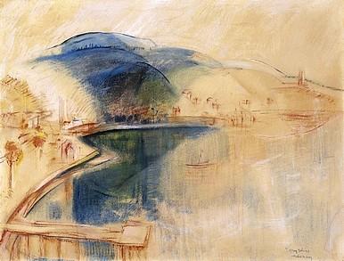 Egry József A badacsonyi öböl című festménye