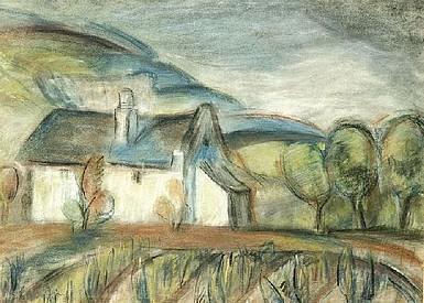 Egry József Badacsonyi présház című festménye