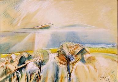 Egry József A Balaton Badacsonynál című festménye