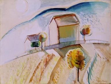 Egry József Balatoni táj című festménye
