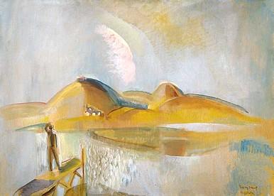 Egry József Szigligeti est című festménye